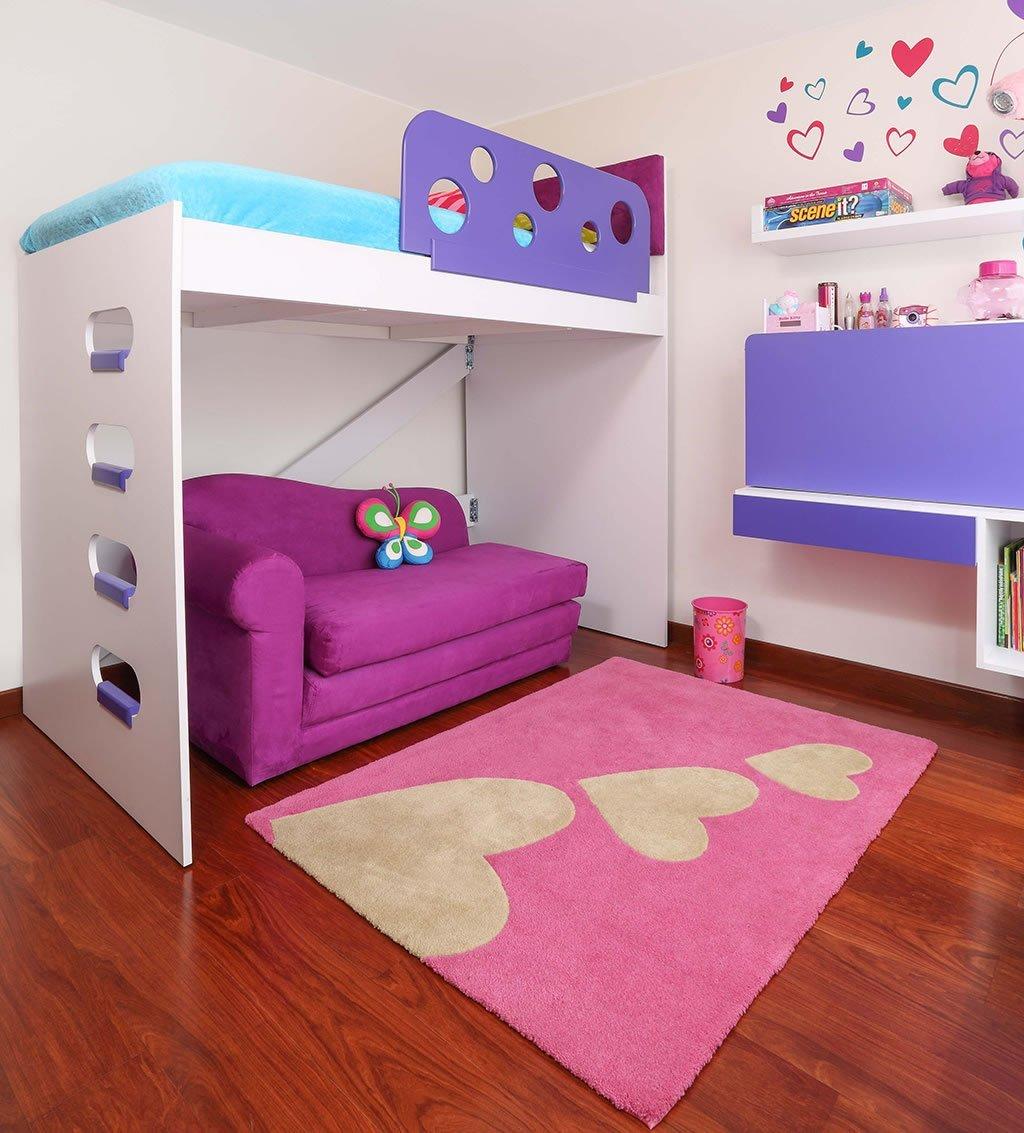 Camarotes para niñas con escritorio